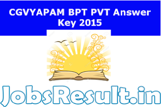 CGVYAPAM BPT PVT Answer Key 2015