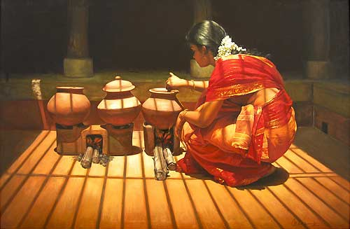 Paintings of Dravidian Women5