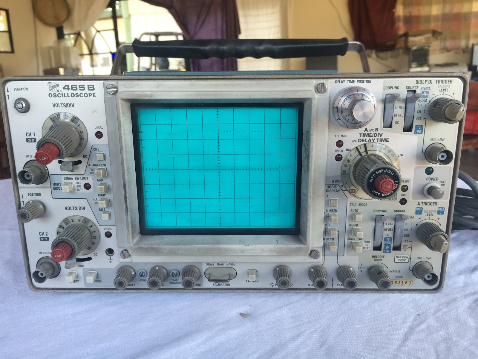 Tektronix Analog Oscilloscope : Channel analog oscilloscope tektronix b ebay