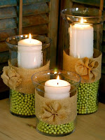 Идеи за декорация на есенни свещници с грах