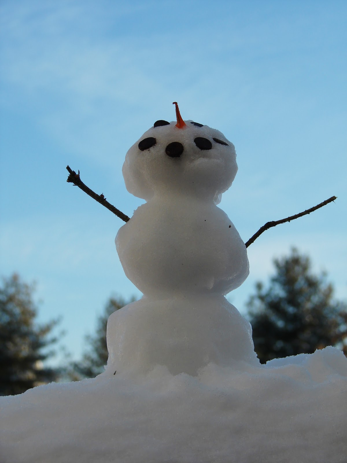 mk inspired mini snowmen