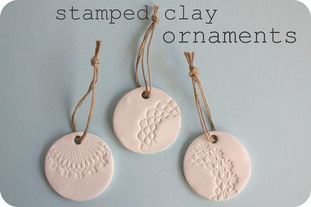 Clay Stamped Ornaments