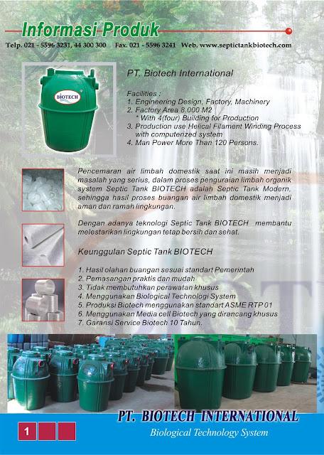 brosur septic tank biotech, katalog, brochure, sepiteng biotek, portable toilet fibreglass