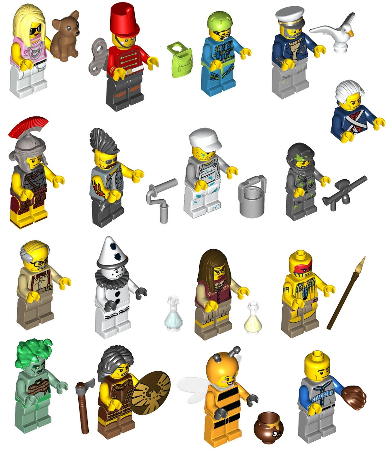 The Collectible Minifigures Series 10 and 11 lineups have been