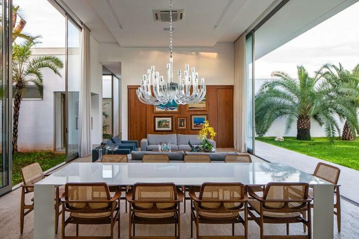 Cadeira Para Sala De Jantar Branca ~ Decoração salas de jantar!  Jeito de Casa  Blog de Decoração