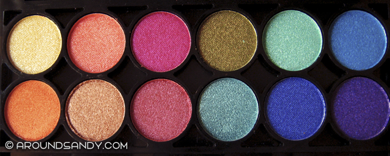 Technic electric eyes palette paleta sombras swatches