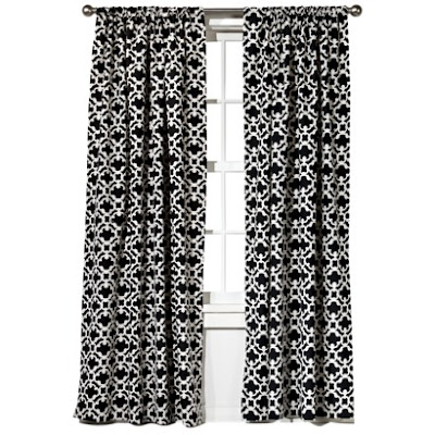 Black and white window panels target home farrah fretwork window panel