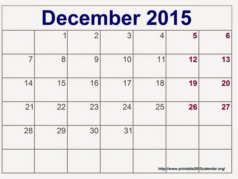 December Calendar Printables : Free printable calendar december
