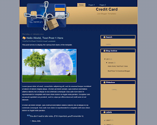 Credit Card Blogger Template