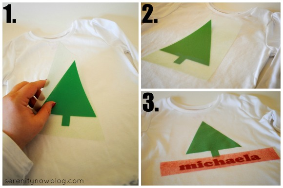 How to Make an Embellished Christmas Shirt, from Serenity Now