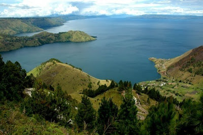 beautifully of toba lake north sumatera Island