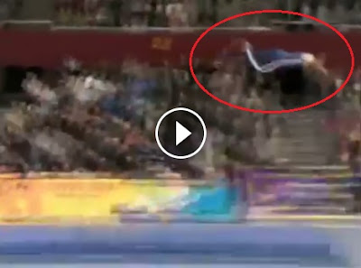 Gymnastic Fail, Gymnastic, Flying Player, TV commercial, Sears Craftsman Tools, Real, Fake, Video, Machine Broken, Fail, Broken Spring Board, Accident, Stunt, Viral,