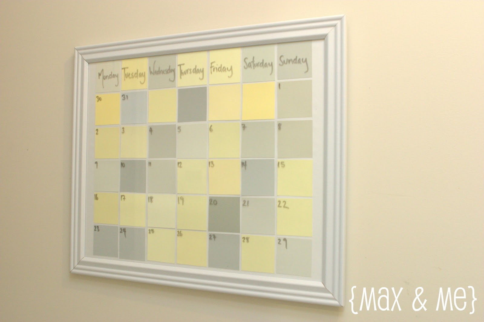 Max me diy dry erase meal planner for Paint planner