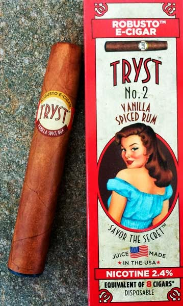 Tryst No. 2 Robusto Vanilla-Spiced Rum E-Cigar