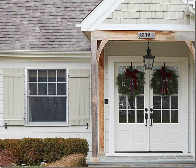 Modern country style modern country house tour in white for Country front doors