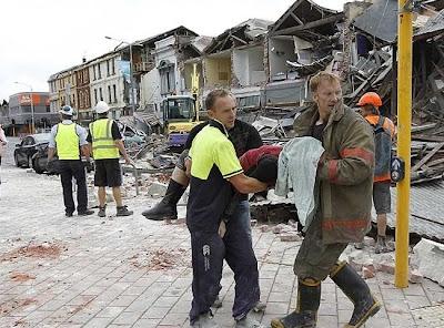 fotos del terremoto en nueva zelanda