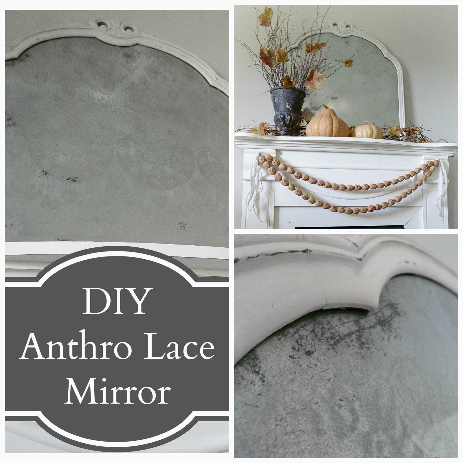 Knock Off Anthropologie Lace Mirror
