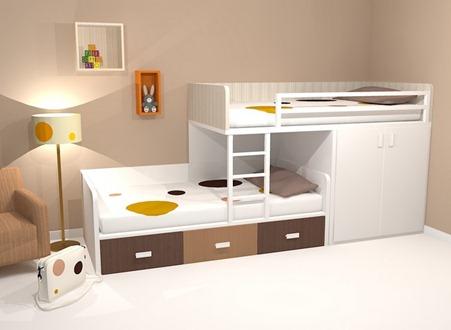 Ni o en casa camas italianas para ninos - Camas divertidas para ninos ...