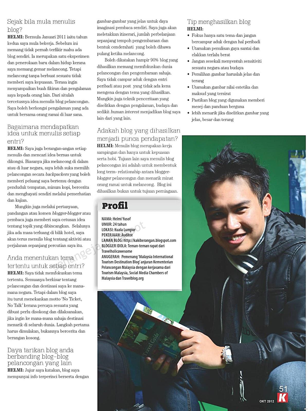 Rajin rajinlah merujuk pautan dan artikel terkini di sebelah kanan blog senangeja ini untuk mengikuti perkembangan blogger blogger lain
