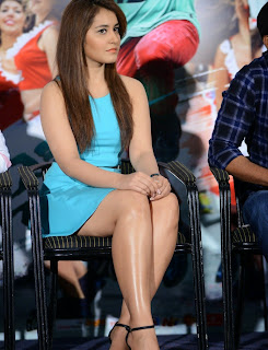 Actress Rashi Khanna  Pictures in Short Dress at Jil Trailer Launch  14
