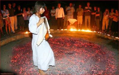 Nestinarstvo, Ritual Tarian di Atas Bara Api Khas Bulgaria