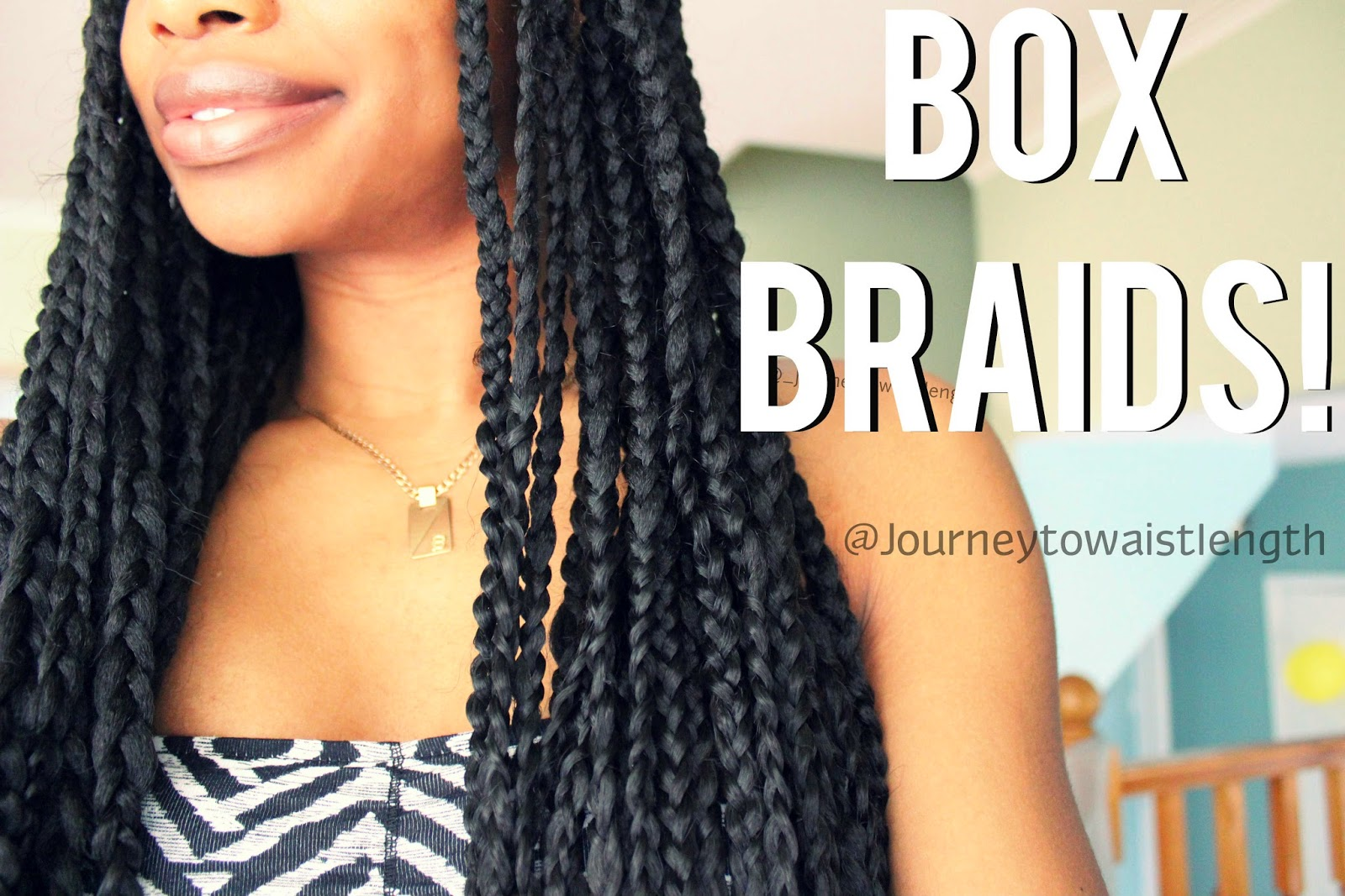 Journey to Waist Length: All About My Box Braids!