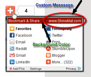 How to add a title on AddThis Sharing widget header