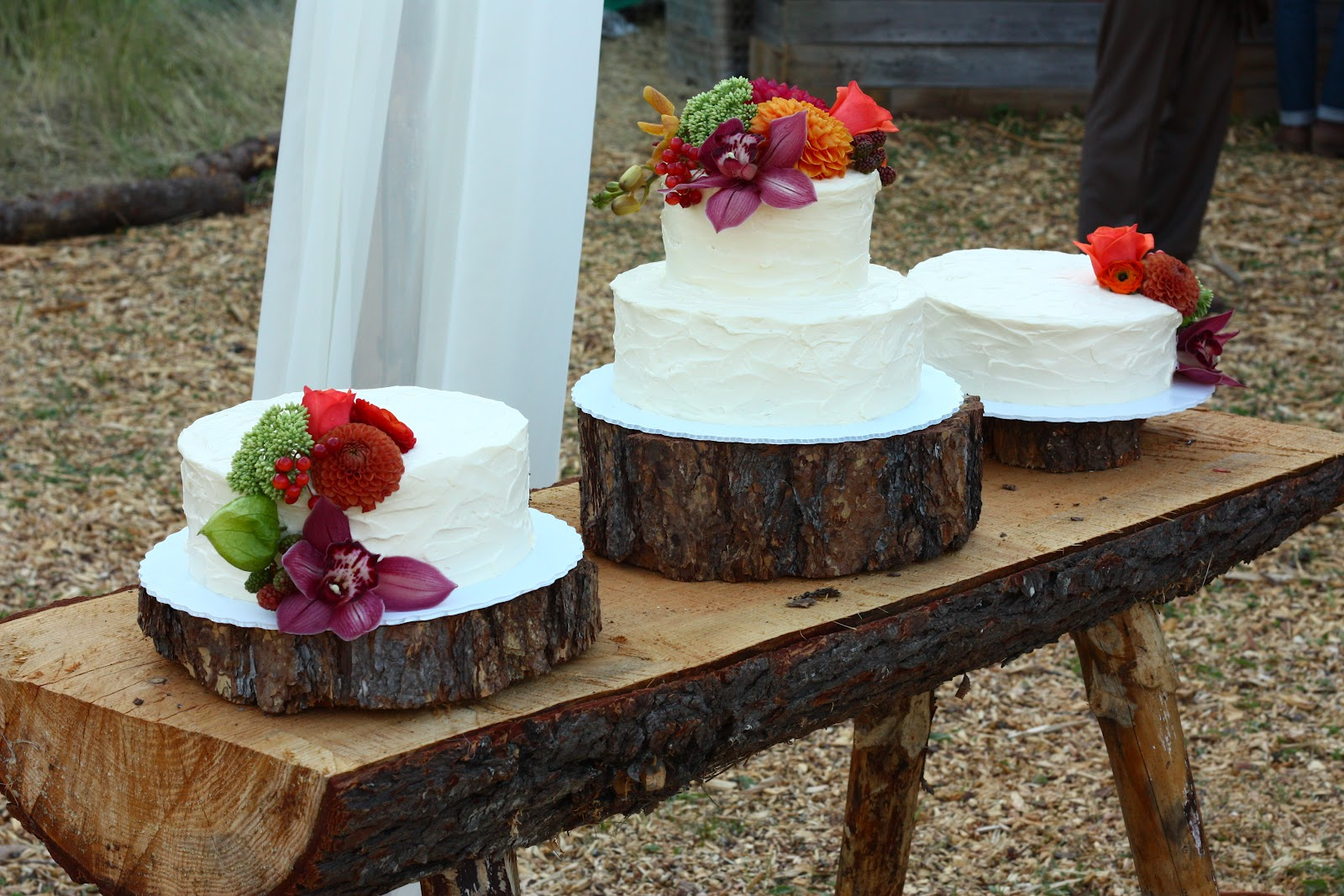 Pie in the sky wedding cake roundup my last delivery of the weekend was to a do it yourself wedding way up on a mountain ridge accessible by a long dusty dirt road solutioingenieria Images