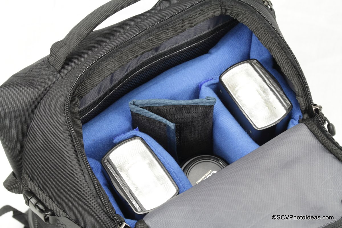 Case Logic DSB-103 w/ extra padded bag insert plus flushes, lens & gels