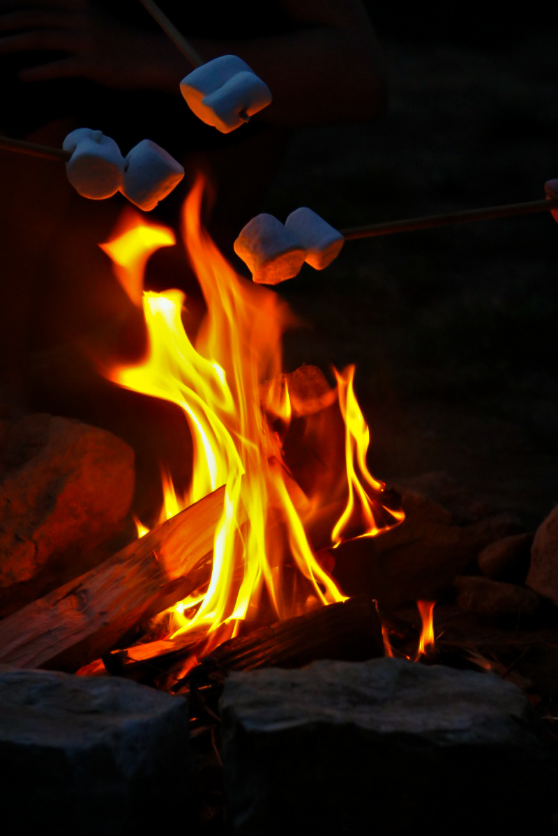 campfire and marshmallows....
