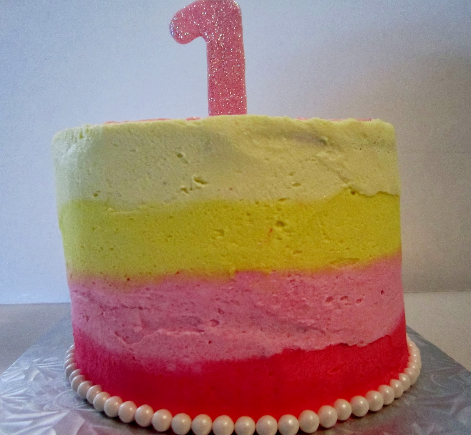 Cakesor Something Like That 1st Birthday Cakes Yellow And Pink