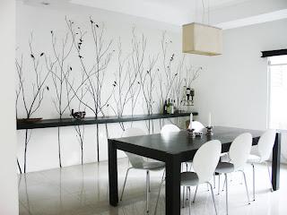 sala jantar preto branco Salas de jantar em preto e branco
