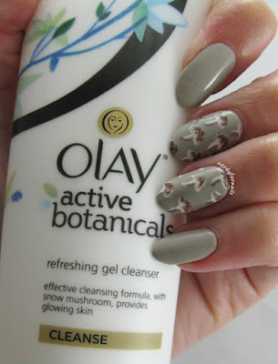 Influenster Wellness VoxBox Olay Active Botanicals Snow Mushroom Inspired Nails