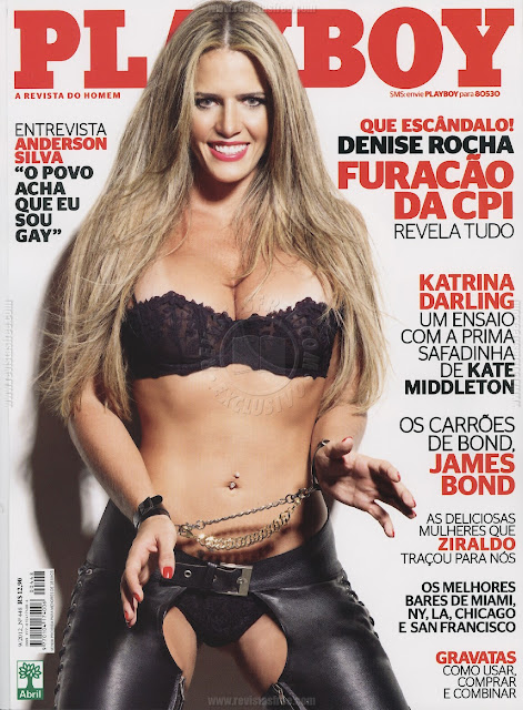 Playboy - Capa: Denise Rocha, O Furaco da CPI! - Edio Setembro 2012