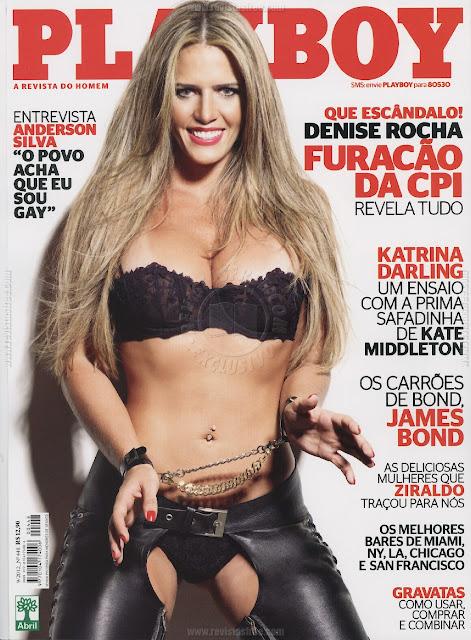 Confira as fotos da advogada que se tornou o furacão da CPI, Denise Rocha, capa da Playboy de setembro de 2012!   Confira o video da ex-assessora Denise Rocha que caiu na net em momento intimo!
