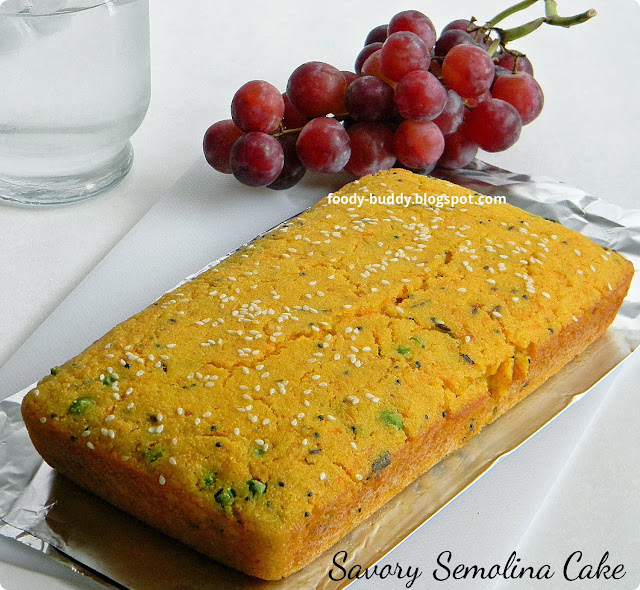 Eggless Semolina Cake Recipe Indian