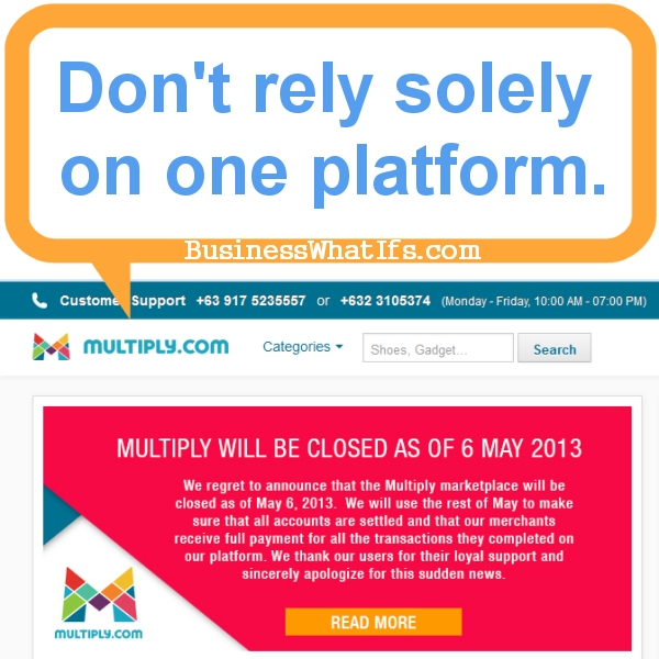 Online marketplace Multiply.com shuts down.