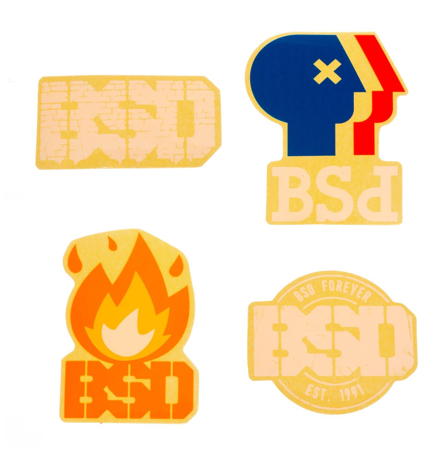 Stickers BSD x 4 $3.000 (oferta)