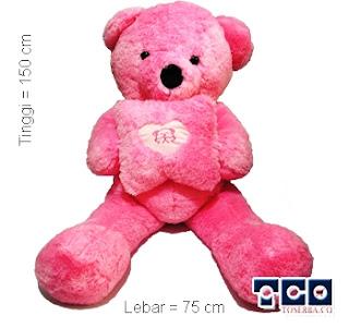 Boneka Bear Love Kotak Giant Pink Foto