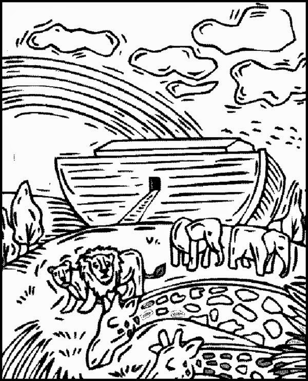 Free Christian Coloring Pages - Noahs Ark Coloring Pages ...