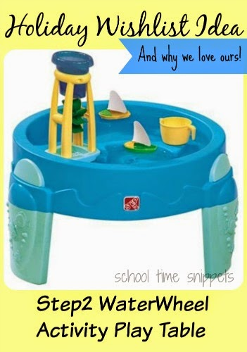 holiday wishlist idea for young kids-- Step 2 Waterwheel table and why we love ours