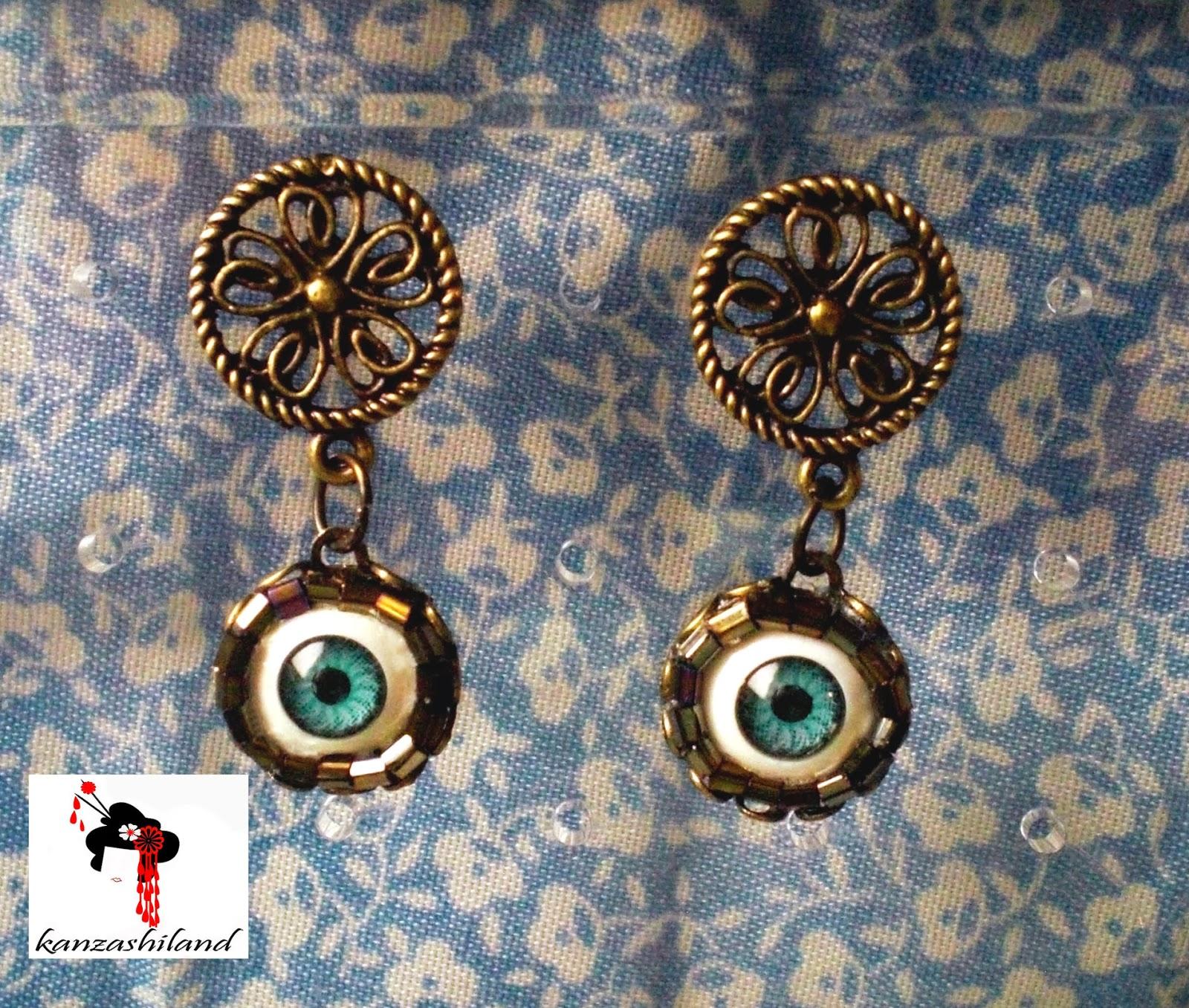 fashionable earrings eyes