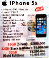 harga spesifikasi iphone 5 s