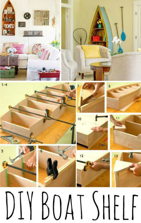 Shelves diy further wood coffee table ideas on home decor boat shelf
