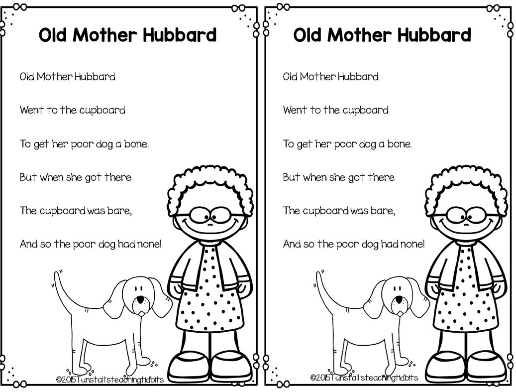 For The Interactive Writing Portion Of This Lesson Students Join You In Creating Old Mother Hubbards Cupboard But Time Rather Than