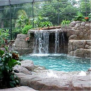 Construccion de lagos cascadas rios artificiales for Jardines con lagos artificiales