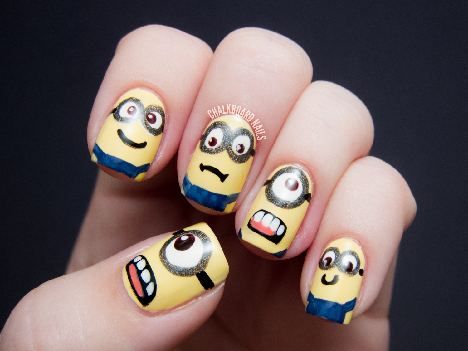 The Cool Cute minions nail art Photograph