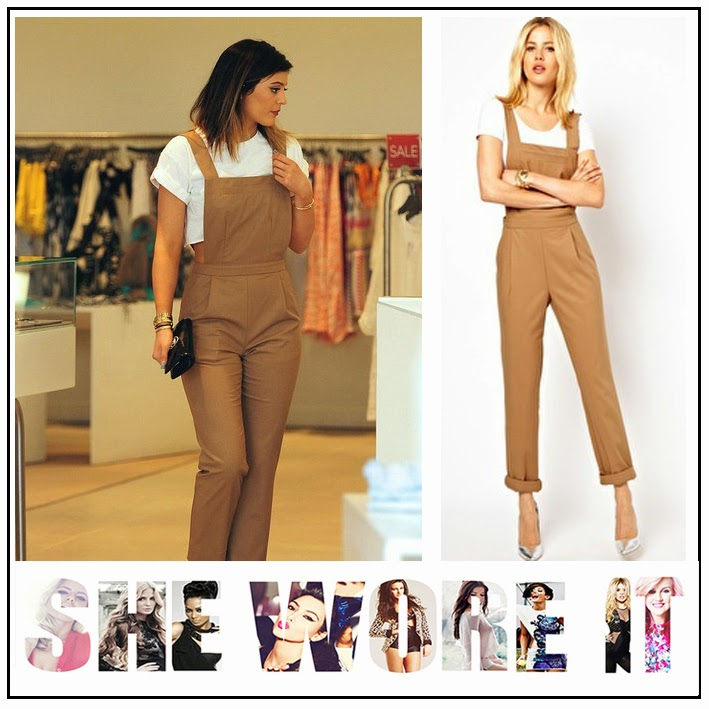 Keeping up with the Kardashians, Kylie Jenner, ASOS, Tailored, Beige, Brown, Tailored, Jumpsuit, Exposed Sides