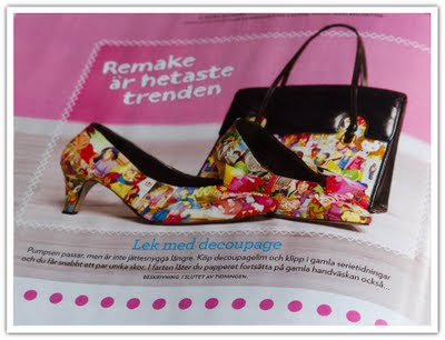 Tidningstips decoupage