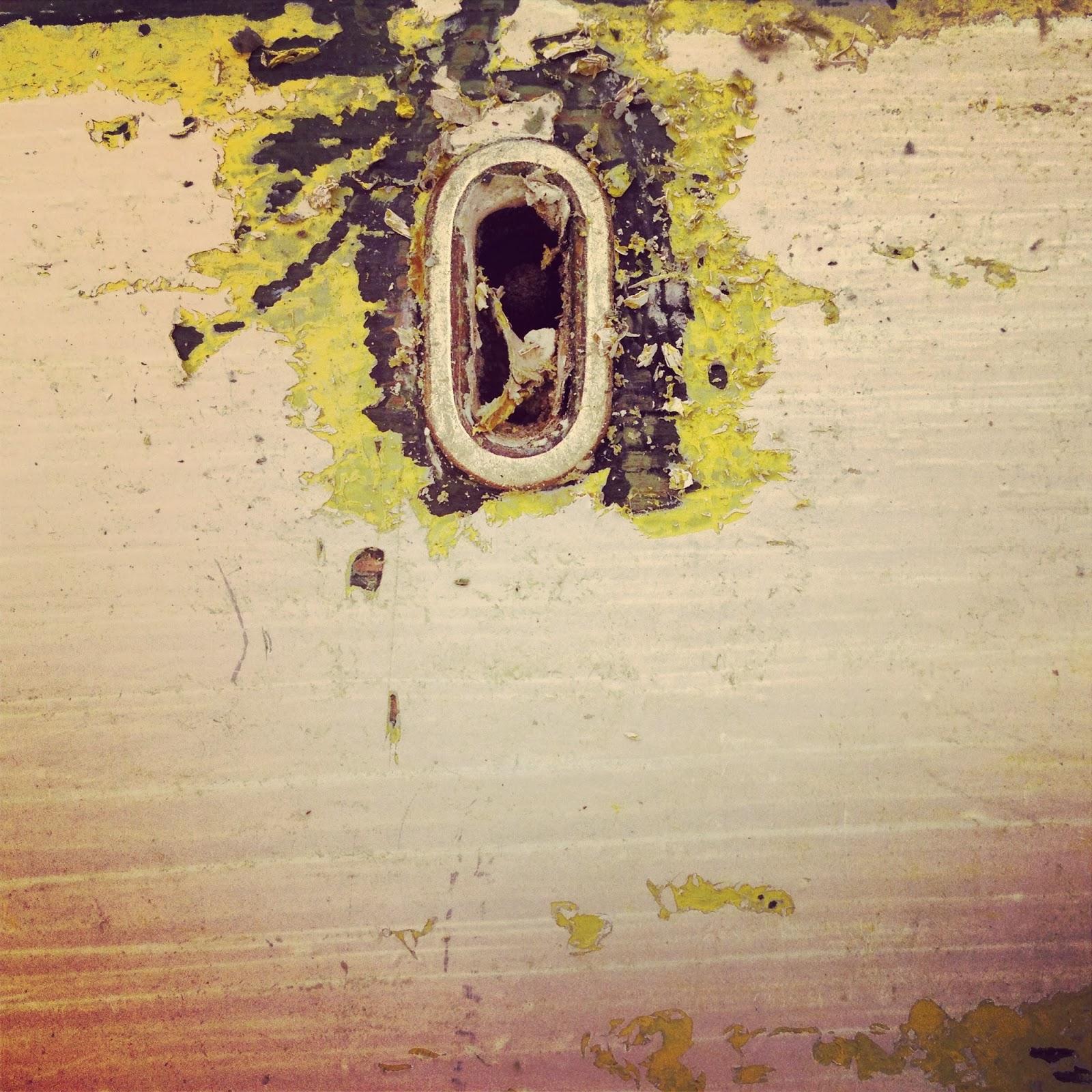 antique key hole with peeling paint